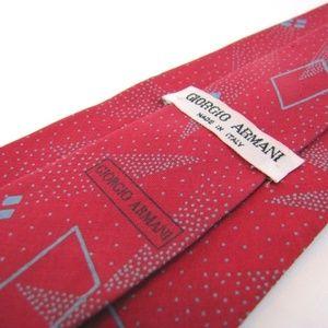GIORGIO ARMANI Red Tie Vtg Memphis Modern Cherry